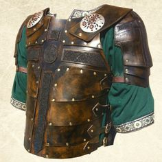 Leather armor with Celtic Cross, could work as a base for Celtic leather breastplate.
