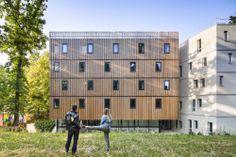 Studentenwohnheim in Versailles / Holz unter Stein - Architektur und Architekten - News / Meldungen / Nachrichten - BauNetz.de