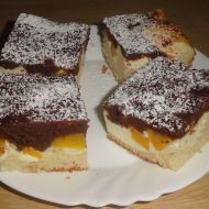 Tvarohová buchta s broskví Food Hacks, Food Tips, French Toast, Cheesecake, Sweets, Breakfast, Recipes, Morning Coffee, Food Stamps