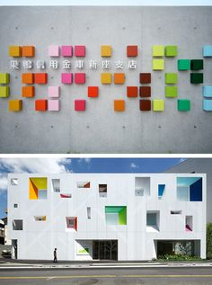 Emmanuelle Moureaux Architecture + Design  designed these colorful buildings that are so much fun! Can you believe that they are actually...