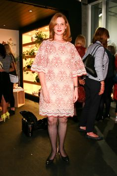Street Stylin' at the Pink Ink Boutique unveiling: Catherine wears Pink Ink dress