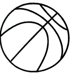 Printable basketball drawing.