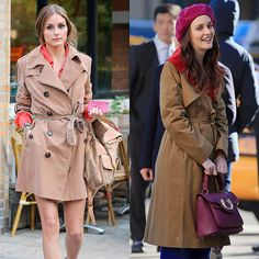 Pin for Later: 15 Times Olivia Palermo and Blair Waldorf Basically Wore the Same Thing Make a Classic Trench Feel Modern by Pairing It With Jewel Tones Olivia Palermo Lookbook, Olivia Palermo Style, Scream Queens, Pretty Little Liars, Yoga Fitness, Pretty Outfits, Winter Outfits, Blair Waldorf Style, Gossip Girl Outfits