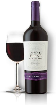 "Wine I like - Bodega Elena of Mendoza, Malbec.  ""Give me wine to wash me of the weather - stains of care."" - Ralph Waldo Emerson"