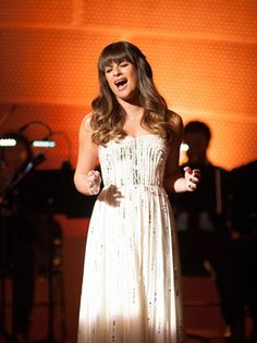 """Rachel (Lea MIchele) performs at NYADA's prestigious winter showcase in the """"Swan Song"""" episode set for Dec. 6."""