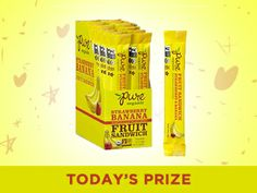 Win 2 boxes of pure fruit sandwich snacks