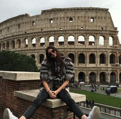 Kendall at the Colosseum in Rome