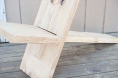 Weekend Project: Make a Wooden Chair from One Board (for $8!) | Man Made DIY  |  Crafts for Men | Keywords: chair, furniture, how-to, outdoor