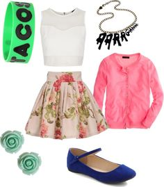 """""""retro summer day!!"""" by myhomieforever ❤ liked on Polyvore"""