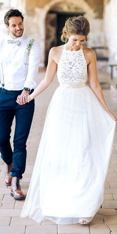 Bridal Inspiration: Rustic Wedding Dresses ? See more: http://www.weddingforward.com/rustic-wedding-dresses/ #weddings