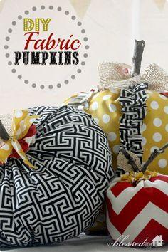 DIY Ruffled Fabric Pumpkins | MyBlessedLife.net