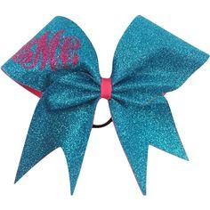 Monogram glitter cheer bow.