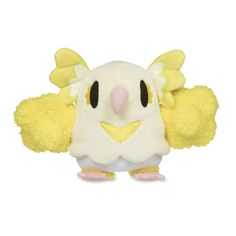 The official Oricorio Pokémon Dolls Plush has a charming pink beak and a pose from a distinctive style of dance. A Pokémon Center Original.