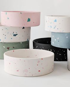 Terrazzo isn't just for floors! Four Legs / Four Walls is bringing this unique m… Terrazzo isn't just for floors! Four Legs / Four Walls is bringing this unique m…,Terazzo Terrazzo isn't just for. Terrazzo, Ceramic Dog Bowl, Ceramic Art, Ceramic Design, Dog Milk, Fourth Wall, Pet Bowls, Cute Dog Bowls, Dog Food Bowls