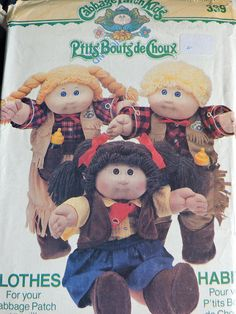 Cabbage Patch Kids Western Cowboy and Cowgirl Boots Holster Clothes Outfits Vintage 1984 Dolls Butterick 339 / 6826 PATTERN Doll Patterns, Vintage Patterns, Sewing Patterns, Kids Patterns, Cowboy And Cowgirl, Cowgirl Boots, Boot Holster, Cabbage Patch Kids Clothes, Fairy Clothes