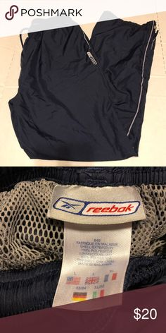 2b902052f71 VTG Reebok windbreaker track pants large Vintage Reebok track pants men's  large Reebok Pants Sweatpants & Joggers