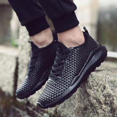 eae2ac321b8c0 Beita Plus Size 39-46 Woven Men Running Shoes Smart Walking Jogging  Sneakers PU Anti