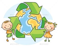 Buy Environmental Conservation by katya_dav on GraphicRiver. Environmental Conservation, kids with recycling symbol Recycle Symbol, Concept Draw, Eco Kids, Kids Blankets, Creative Activities, Photoshop Design, Cartoon Kids, Cartoon Styles, Cute Drawings