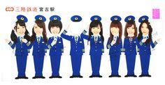AKB48 顔出し看板 三陸鉄道・宮古駅 岩手県宮古市