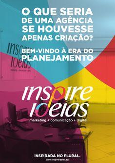 Inspirada no plural. Estreando a identidade e sites novinhos! Vem conhecer, vem ser #plural! www.inspireideias.ag #pluralidade #agencia #marketing #publicidade #anuncio #ideias #inspiracao #comunicacao #digital