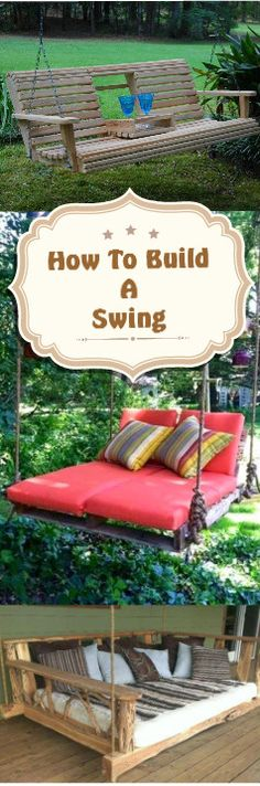 How To Build A Porch/Garden Swing:http://vid.staged.com/ShHsVideo With Instructions