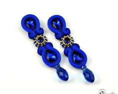 Blue Gray Dangle Earrings Soutache Earrings от SBjewelrySoutache