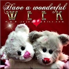 New Week Quotes, Good Week, Teddy Bear, Tags, Feelings, Blog, Animals, Animales, Animaux