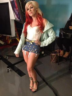 JACKET: Diesel  SHIRT: What Katie Did  SHORTS: JOY RICH  JEWELRY: Trillery and Stephen Webster  SHOES: Jeffrey Campbell Shoes