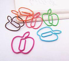 Marca páginas manzana   -   Apple paper clips bbokmarks