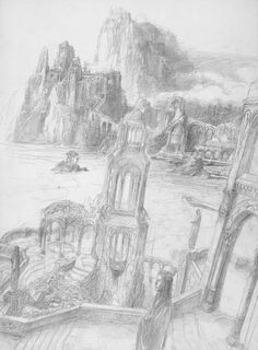 alan_lee_the lord of the rings_sketchbook_20_the grey havens02.jpg (1177×1600)