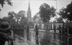By June 1945 the Japanese army had pulled out of Rangoon. This week in the war on 15 June 1945 Lord Louis Mountbatten held a victory parade in the city. Rangoonwhere Aung San Suu Kyi the Burma Campaign, Victory Parade, Royal Marines, Yangon, Square Photos, Flash Photography, Mandalay, Photo Checks, British Army