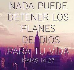 Los planes de Dios no se detienen