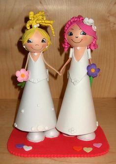 Pareja de Novia y Novia para regalar a tus invitados, a tus amigos o para la tarta!