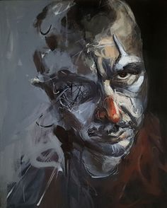 Buy Creepy clown 8, Acrylic painting by Razvan Stanciu on Artfinder. Discover…