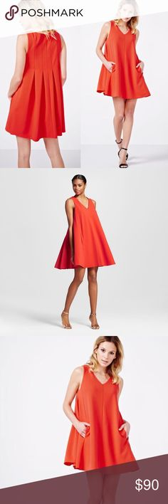 73ba608e2d ABS BY ALLEN SCHWARTZ ❤ Pleated Trapeze Dress S Detailed with back pleats  and a