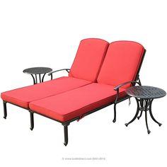 BuildDirect®: Patio Furniture Patio Furniture Bordeaux Collection   3 Piece Chaise Lounge Set. #PinandWinforMom with @BuildDirect http://www.builddirect.com/promotions/mothers-day/?utm_source=pinterest&utm_medium=social&utm_campaign=MothersDayPinterest  #PinandWinforMom  @BuildDirect