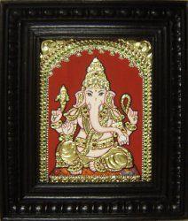 biz - Art & Craft work by Sumathi - Tanjore paintings - Ganesha Indian Gods, Indian Art, Tanjore Painting, Outline Drawings, Ganesha, Sri Ganesh, Gold Work, Paint Designs, Craft Work