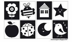 Libri bianco e nero per neonati diy