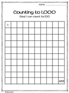 counting to 1 000 on pinterest place values place value worksheets. Black Bedroom Furniture Sets. Home Design Ideas