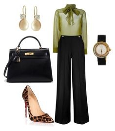 """""""Boss"""" by kmags4 ❤ liked on Polyvore featuring Gucci, L.K.Bennett, Christian Louboutin and Cartier"""