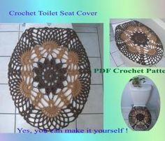 Crochet Pattern   Toilet Seat Cover for Both Standard and Elongated Toilet  Seats  33VC2012 This elongated shell toilet seat cover is a modification of my  . Oblong Toilet Seat Cover. Home Design Ideas