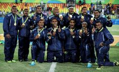 © Phil Noble/Reuters - Fiji wins first-ever Olympic medal:  Fiji's wait for an Olympic medal was finally over after the country's rugby sevens team defeated Great Britain in the final to claim gold.