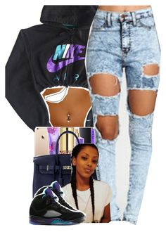 """6/11/2016"" by yeauxbriana ❤ liked on Polyvore featuring NIKE and Hermès"