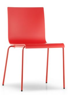 Kuadra Xl Modern Plastic Chair Round Legs With Composite Material Shell