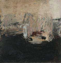 paysage hypothétique / olivier rouault / essai brun noir / mixed media on paper
