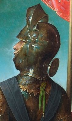 The Crucifixion - The Collection Medieval Helmets, Medieval Weapons, Renaissance Paintings, Renaissance Art, Types Of Armor, Army List, Armours, Medieval Manuscript, 2d Art