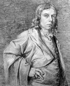John Flaxman (1755-1826), pen and ink self portrait. Dudley Museum, UK.