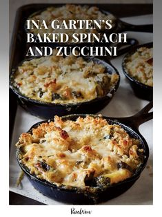Baked spinach and zucchini are anything but a snooze-fest when Ina Garten gets her hands on them. Why? The Barefoot Contessa adds basmati rice and two different types of cheese. Genius.
