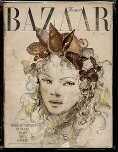 Harpes Bazar cover by Leonor Fini
