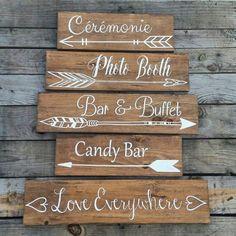 Un mariage flèche directionnelle signe-mariage par CypressandWhim